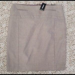 Express tan Pencil Skirt size 0